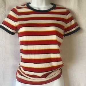 Hollister vintage striped tee size small